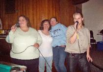 Karaoke night at the club